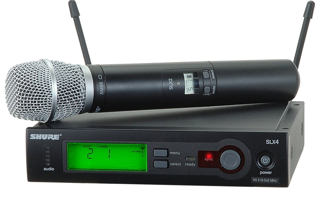 Shure SLX24/SM86-G5 Handheld Wireless Microphone System