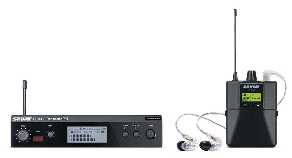 Shure P3TRA215CL PSM300 Personal Wireless Monitor System with SE215-CL Earphones - G20 Band