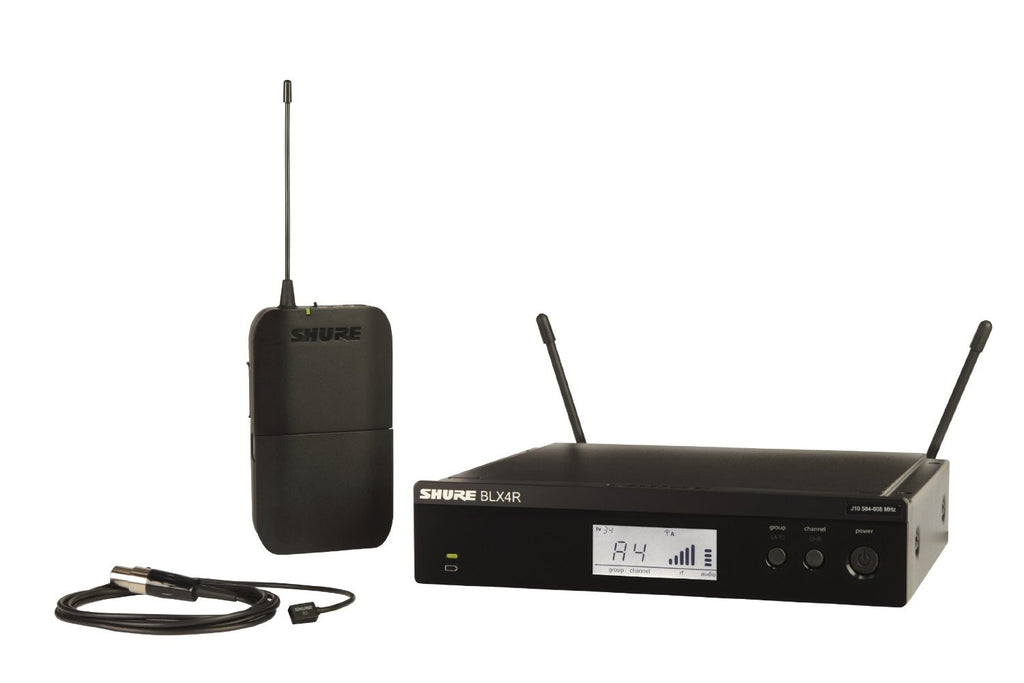 Shure BLX14R/MX53-H9 Rackmountable WirelessEarset Mic System Omni-Directional H9 Band (512-542MHz)