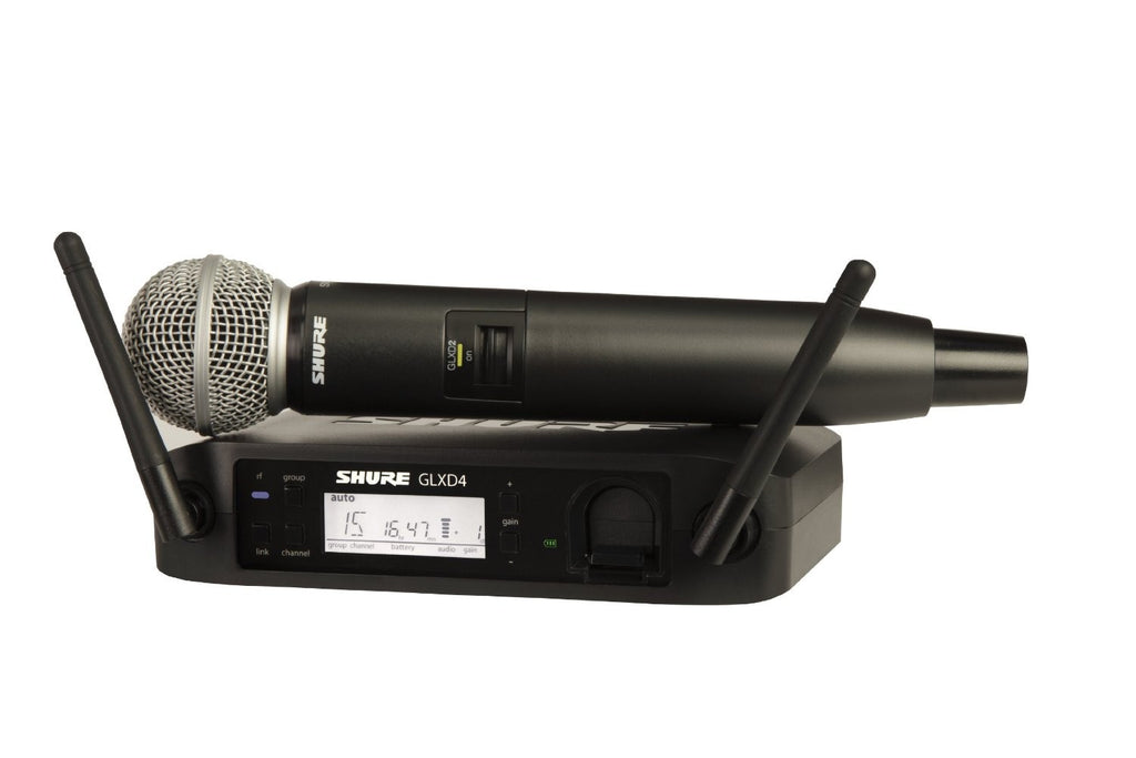 Shure GLXD24-SM58 Digital 2.4GHz Wireless Handheld Microphone System, Z2