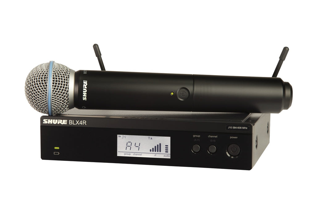 Shure BLX24R/B58 Handheld Wireless System - Band K12, 614-638MHz
