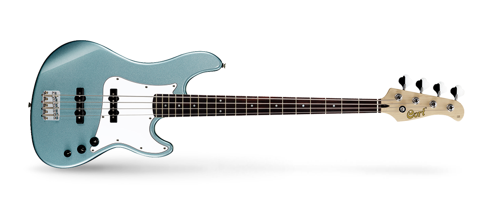 Cort GB Series GB54JJ 4-String Electric Bass Guitar, Sea Foam Pearl Green