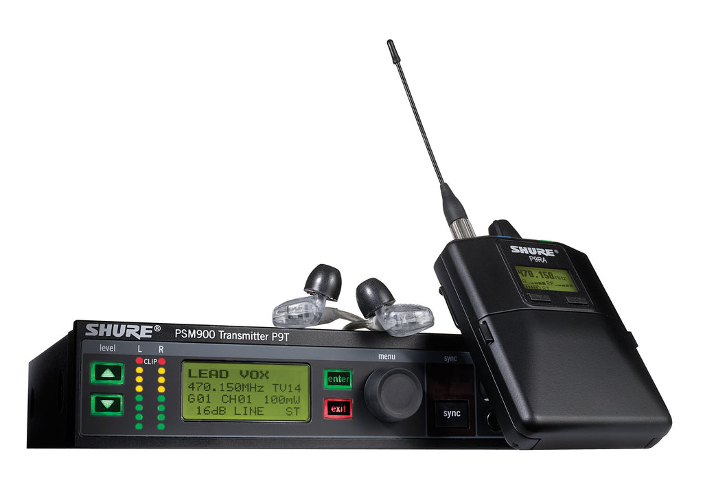 Shure P9TRA425CL-G7 PSM900 System Rechargeable with SE425CL  Earphones - Band G7, 506-542MHz
