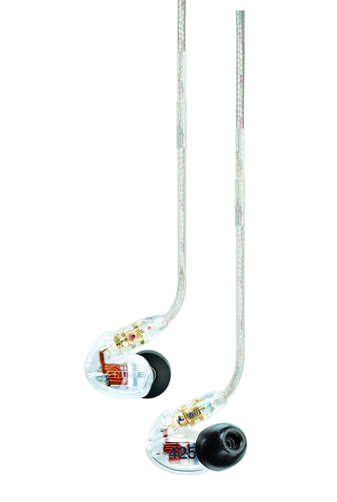 Shure SE425-CL Sound Isolating Dual Driver Earphone with Detachable Cable and Formable Wire (Clear)