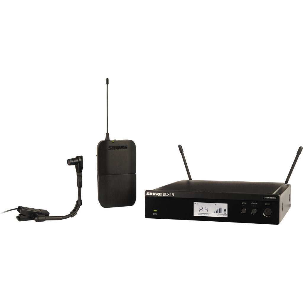 Shure BLX14R/B98-H9 Rackmountable Wireless Clip-On Horn Mic System