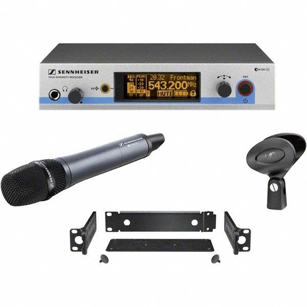 Sennheiser EW500-935-G3-A1 SKM500 G3 handheld transmitter with e935 cardioid dynamic capsule and EM500 G3 rack-mountable diversity receiver with GA3 rack mount kit. (470-516 MHz)