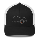 Rusty Frets Acoustic Guitar Logo Hat