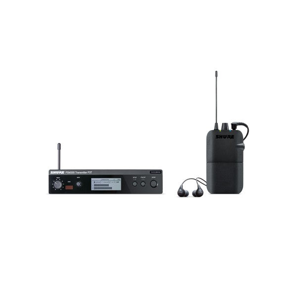 Shure P3TR112GR-G20  PSM300 Personal Wireless Monitor System with SE112 Earphones - G20 Band