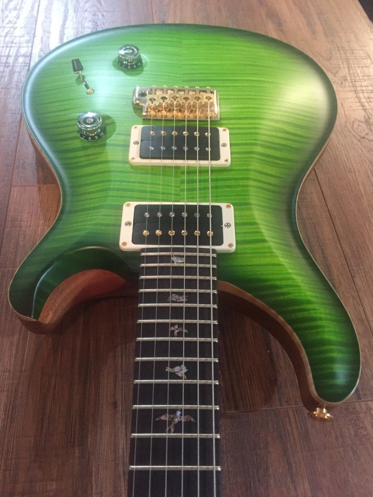 Paul Reed Smith PRS Custom 24 | 10 Top | Satin Eriza Verde | Pink Heart Bird Inlays