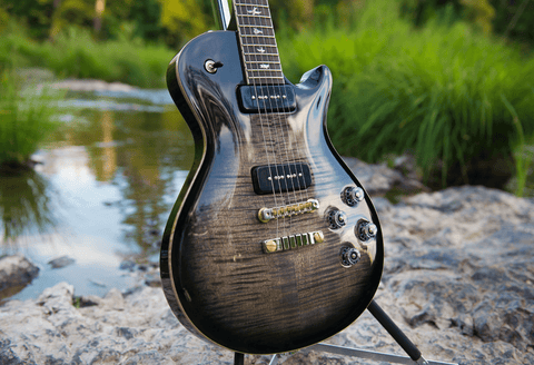 PRS Custom 24 | Satin Black | Natural Back
