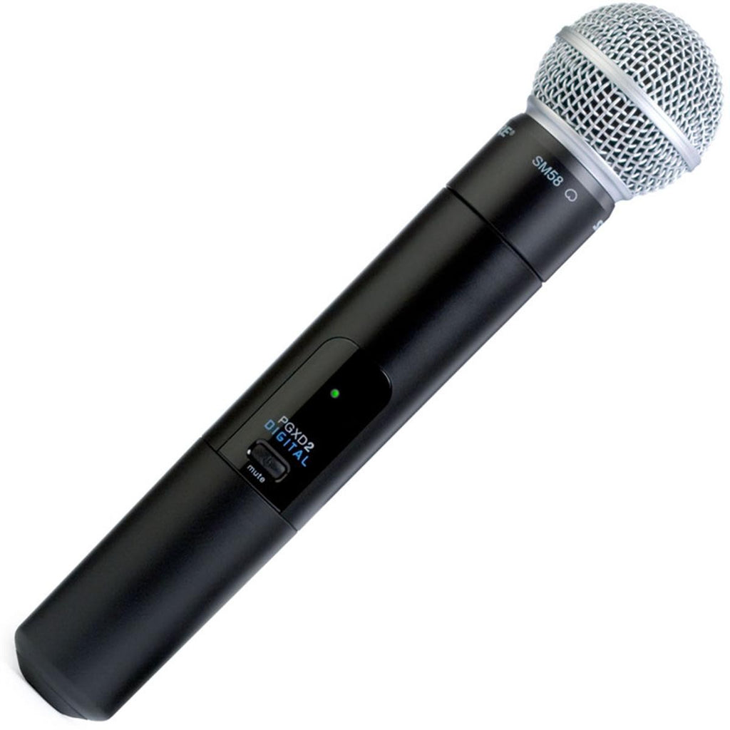 Shure PGXD2/SM58 Digital Wireless Handheld Microphone Transmitter w/SM58