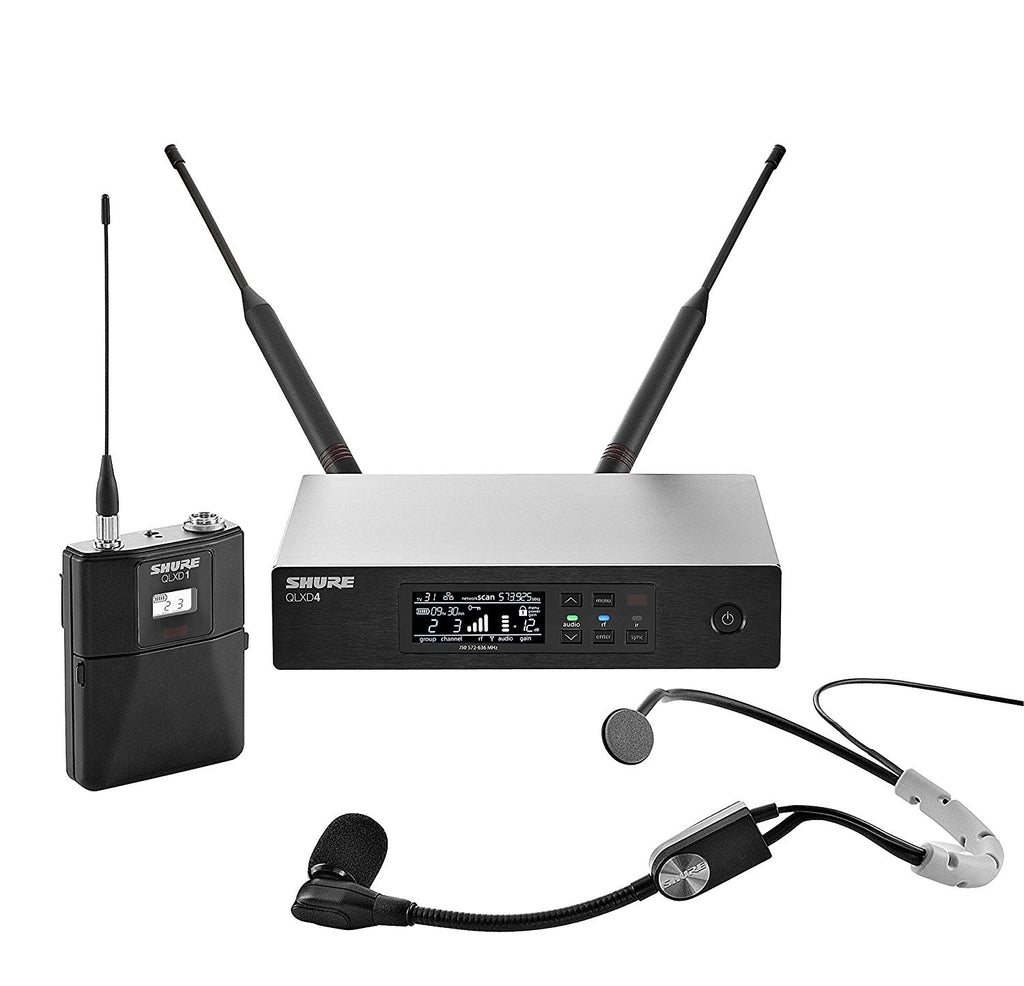 Shure QLXD14/SM35 Headworn Wireless Microphone System - J50 Band, 572-636 MHz