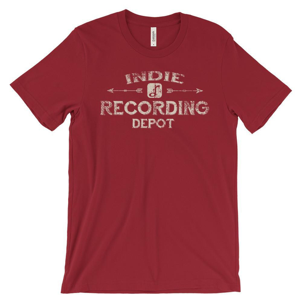Rusty Frets Guitar Shop Red / S Indie Recording Depot Vintage Shirt