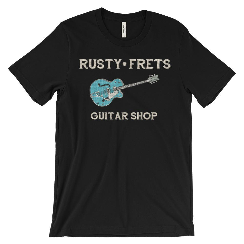 Rusty Frets Guitar Shop Black / S Rusty Frets Rockabilly Guitar Shirt