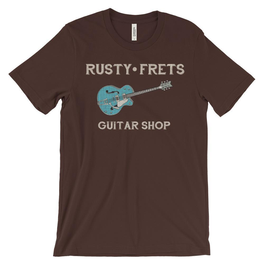 Rusty Frets Guitar Shop Brown / S Rusty Frets Rockabilly Guitar Shirt