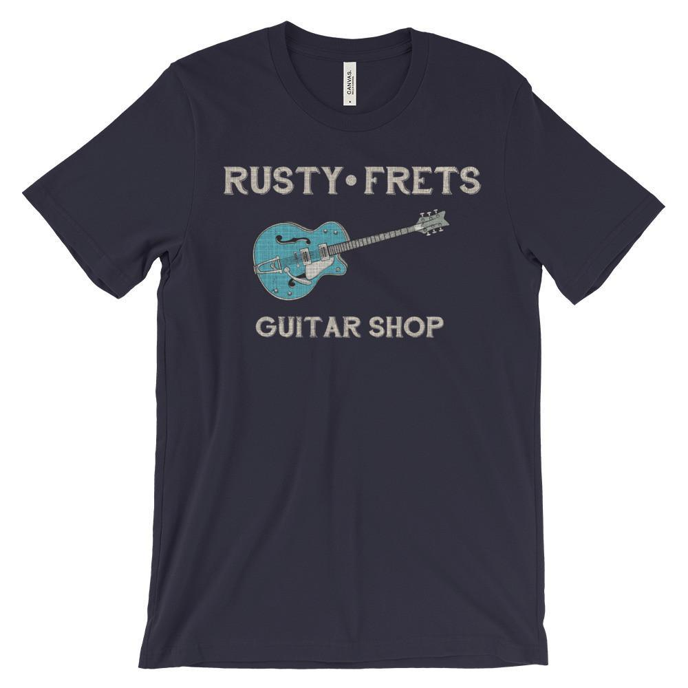 Rusty Frets Guitar Shop Navy / S Rusty Frets Rockabilly Guitar Shirt