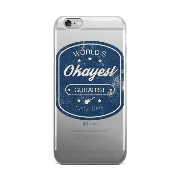 "Rusty Frets Guitar Shop iPhone 6 Plus/6s Plus ""World's Okayest Guitarist"" iPhone case"
