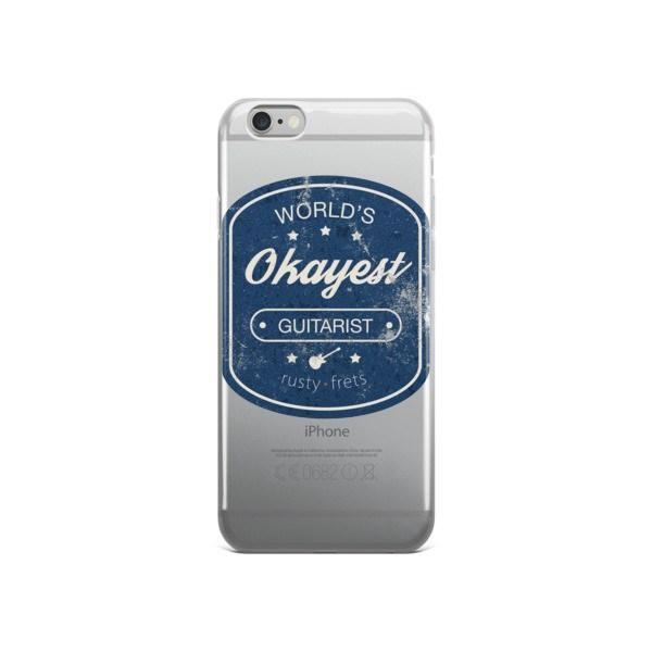 "Rusty Frets Guitar Shop iPhone 6/6s ""World's Okayest Guitarist"" iPhone case"