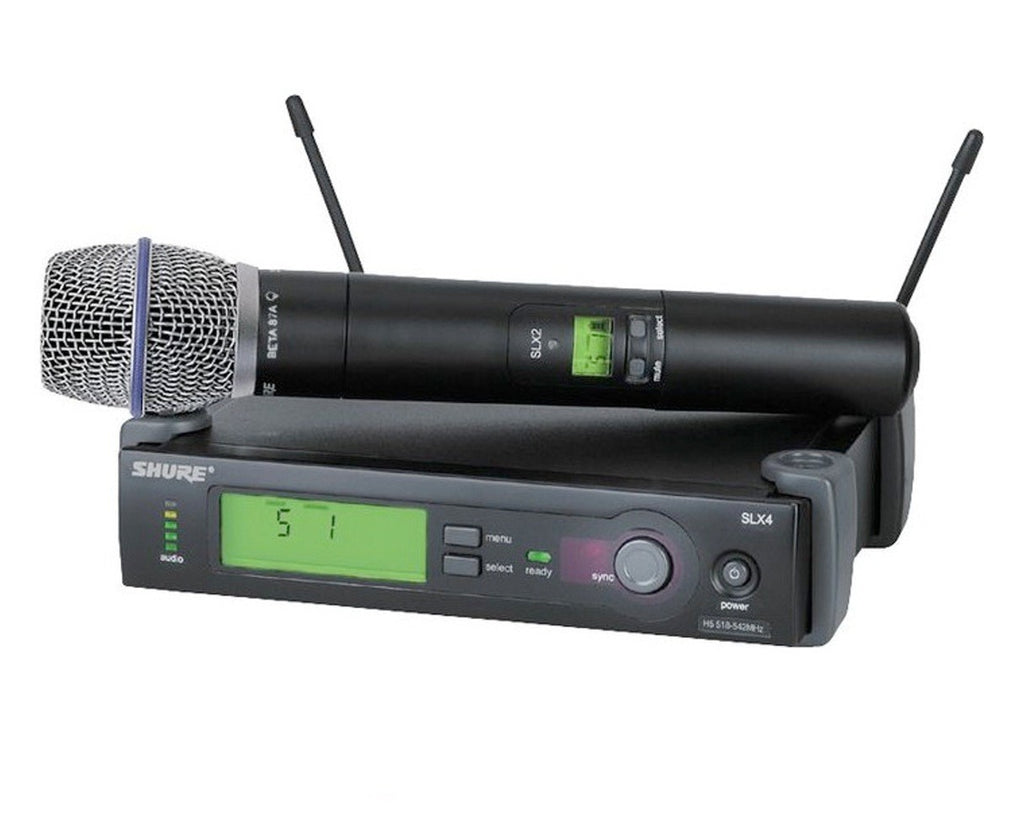Shure SLX24/BETA87A-G5 Handheld Wireless System G5 Band (494-518 MHz)