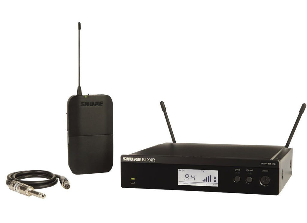 Shure BLX14R Rackmountable Guitar Wireless System - H9 Band (512-542MHz)