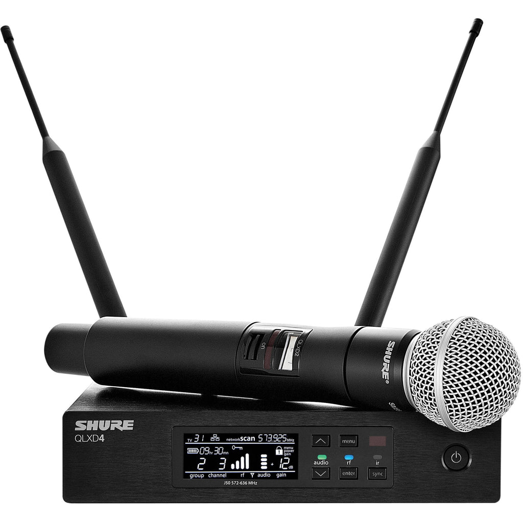 Shure QLXD24/SM58 Handheld Wireless Microphone System (H50 Band)