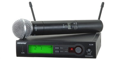 Shure SLX24 Handheld Wireless System G4 Band (470 – 494 MHz)
