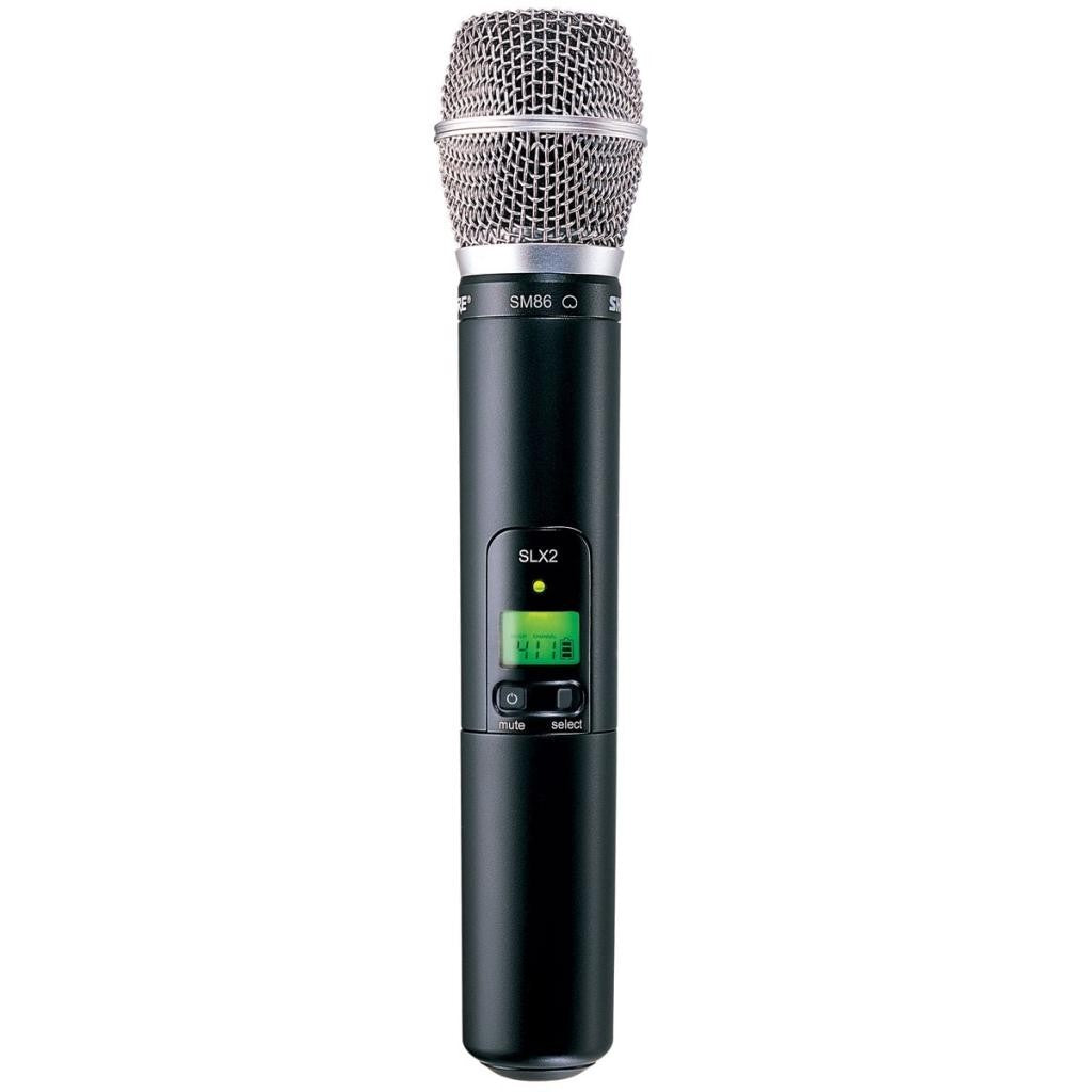 Shure SLX2/SM86 Handheld Wireless System G4 Band (470 – 494 MHz)