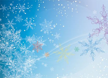 Colorful Snowflakes - Holiday Greeting Card by BoyTown News