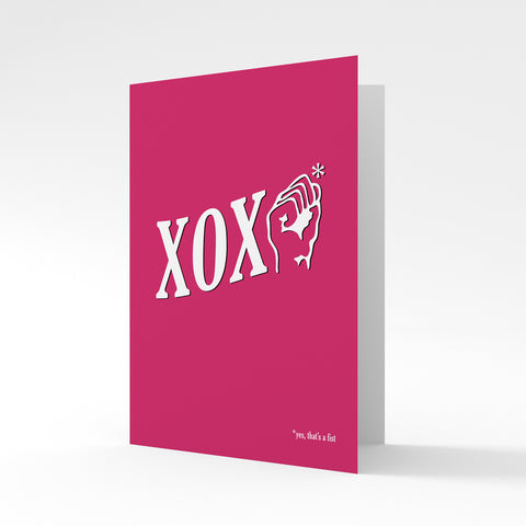 XOXO* Fisting - Greeting Card by Batteries Included