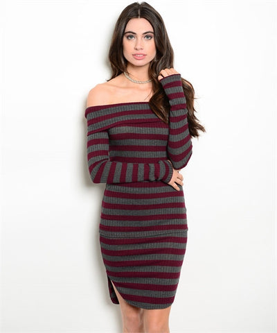 Stripe 2 piece skirt set