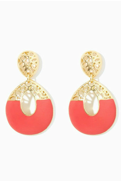Coral It Out Earrings - Fierce Finds Mobile Boutique  - 2