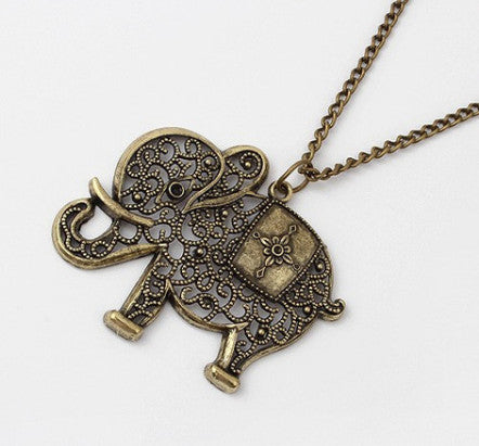 Elephant Long Necklace - Fierce Finds Mobile Boutique  - 2