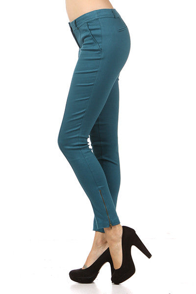 Wine Stretch Crop Pant - Fierce Finds Mobile Boutique  - 4