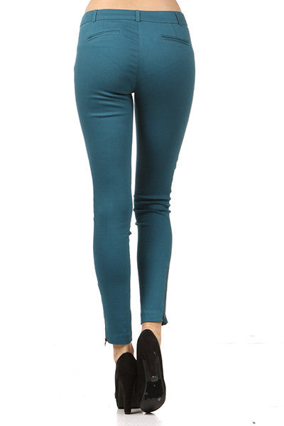 Wine Stretch Crop Pant - Fierce Finds Mobile Boutique  - 5