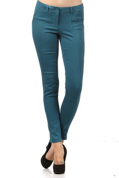 Wine Stretch Crop Pant - Fierce Finds Mobile Boutique  - 6