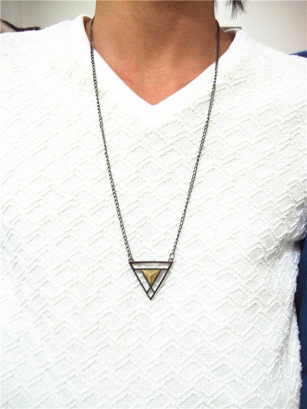 Double Triangle Long Chain - Fierce Finds Mobile Boutique  - 6