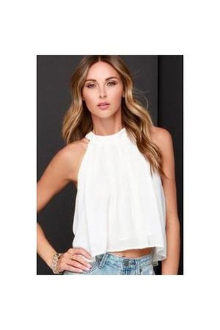 Ivory Crop Top-Women - Apparel - Shirts - Crops-Fierce Finds Mobile Boutique