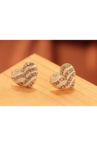 Striped Heart Earrings - Fierce Finds Mobile Boutique  - 5