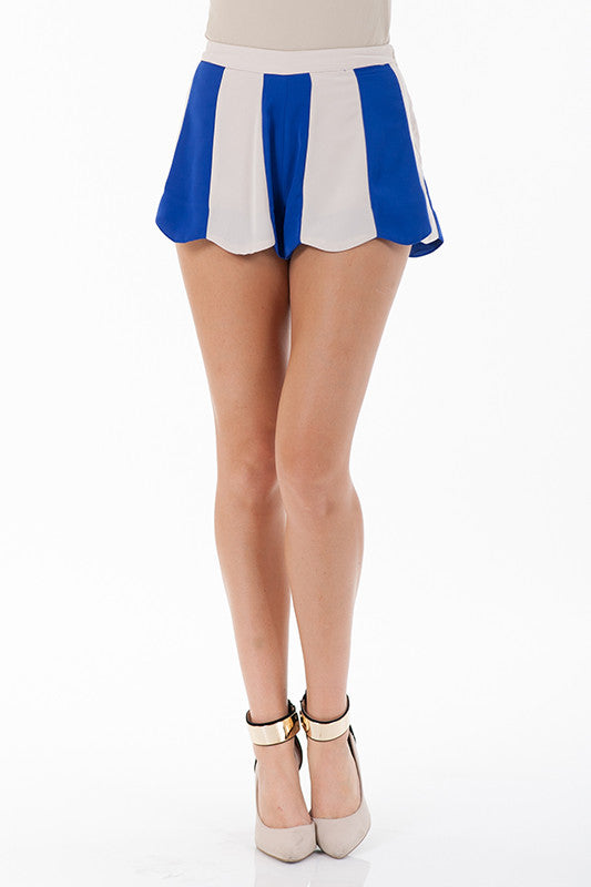 Scalloped Flare Shorts - Fierce Finds Mobile Boutique  - 2