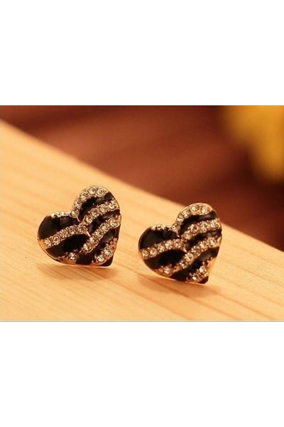 Striped Heart Earrings - Fierce Finds Mobile Boutique  - 9