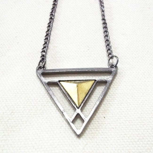 Double Triangle Long Chain - Fierce Finds Mobile Boutique  - 7
