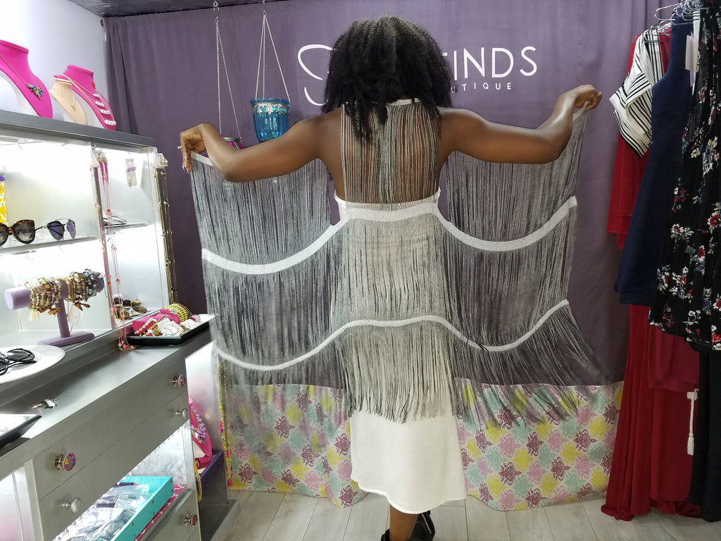 Handcrafted Long Fringe Vest - Fierce Finds Mobile Boutique  - 6