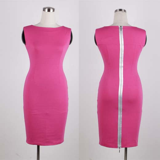 Werk It Pink Sheath - Fierce Finds Mobile Boutique  - 2