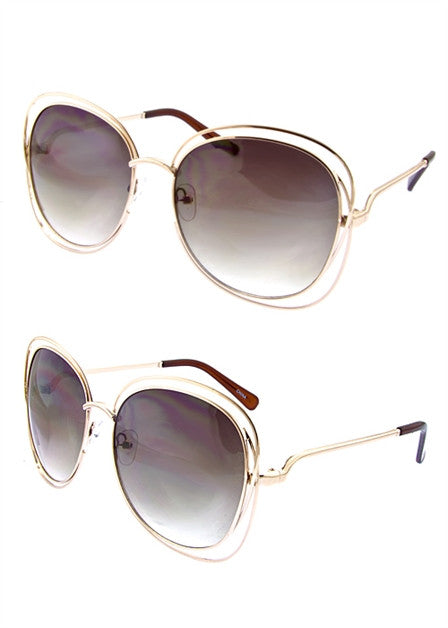 Oversized Square Retro Sunglassess - Fierce Finds Mobile Boutique  - 2