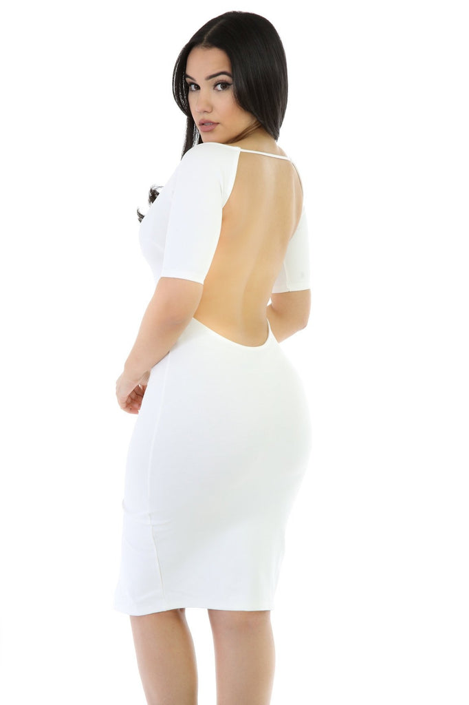 White Haute Dress - Fierce Finds Mobile Boutique  - 2