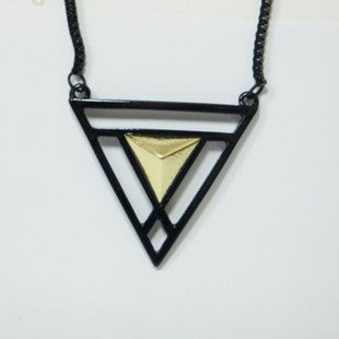 Double Triangle Long Chain - Fierce Finds Mobile Boutique  - 5