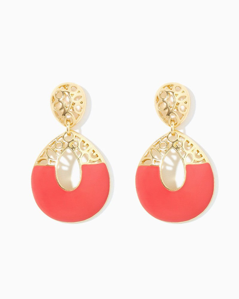 Coral It Out Earrings - Fierce Finds Mobile Boutique  - 3