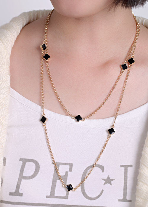 Small Clover Layered Necklace - Fierce Finds Mobile Boutique  - 5
