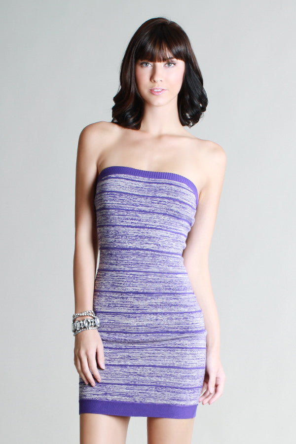 Purple Blurred Lines Dress - Fierce Finds Mobile Boutique  - 2