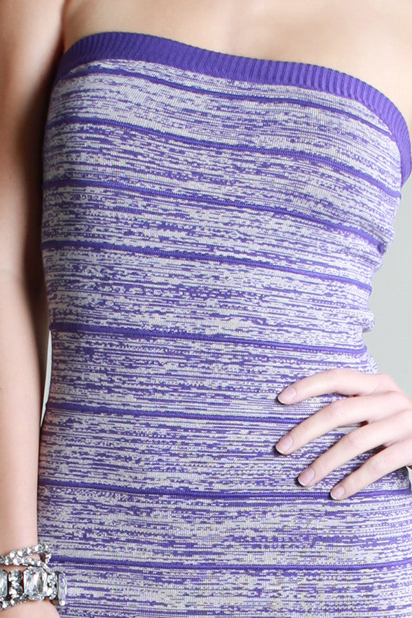 Purple Blurred Lines Dress - Fierce Finds Mobile Boutique  - 3